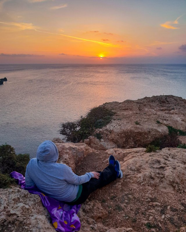 Watching Sunset from Riviera Martinique, Malta