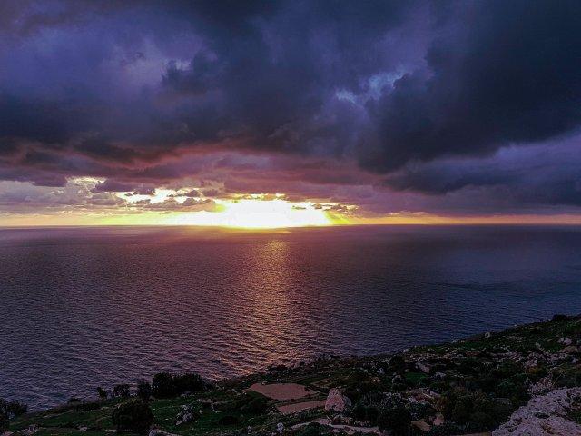 Sunset at Dingli Cliffs, Malta